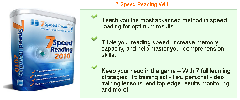 Speed Reading System